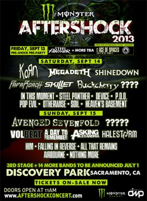 Aftershock 2013 flyer