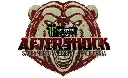 Monster Energy AFTERSHOCK 2015, Sacramento, California grizzly bear logo