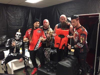 Five Finger Death Punch poses with lifejacket for the Life Looks Good On You campaign