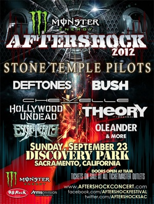 Monster Energy Aftershock 2012 flyer