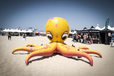 Inflatable octopus at Back To The Beach