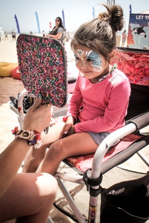 Face painting at Back To The Beach