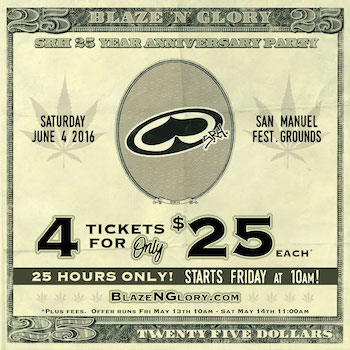 Blaze 'N' Glory 4 for $25 (each) offer, for 25 hours only!