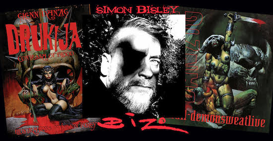 Flyer for Glenn Danzig and Simon Bisley signings at Blackest Of The Black