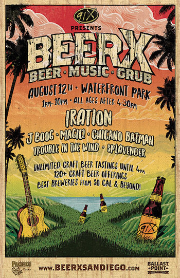 91X presents BeerX flyer with band lineup and venue details