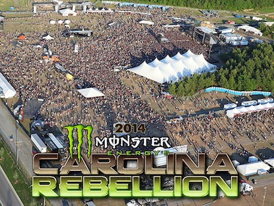 Aerial photo of the crowd at the 2014 Monster Energy's Carolina Rebellion