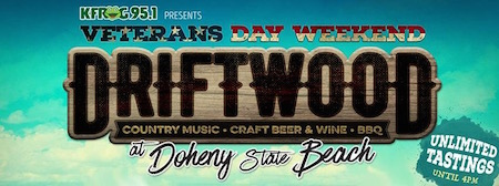 KFRG presents Driftwood at Doheny State Beach