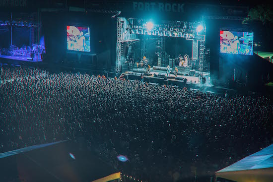 Crowd watching Ozzy Osbourne perform at Monster Energy Fort Rock 2018
