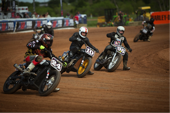 Super Hooligan flat track motorcycle racing
