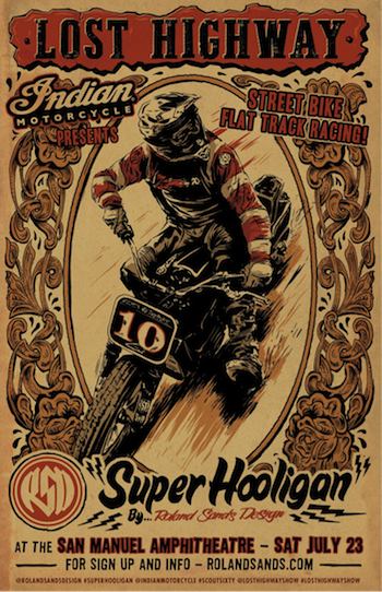 Lost Highway Super Hooligan racing poster