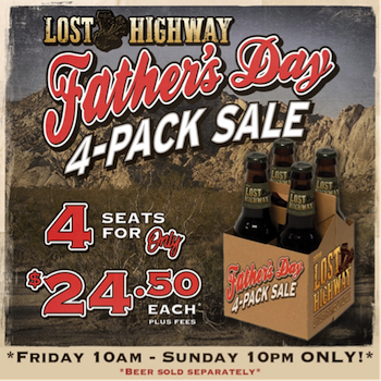 Lost Highway Father's Day 4 pack details