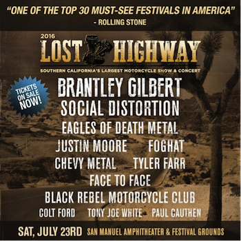 Lost Highway flyer with band lineup and venue details