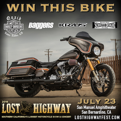 Win This Bike: Lost Highway motorcycle giveaway details
