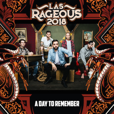 Las Rageous 2018 logo with A Day To Remember band photo