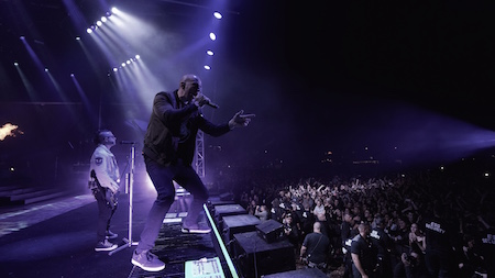 Avenged Sevenfold performing at LOUDER THAN LIFE, photo by Strati Hovartos