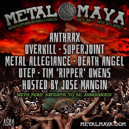 Metal Maya flyer with band lineup and resort details