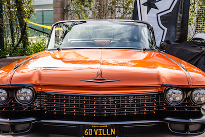 Orange lowrider at the Famous Stars and Straps booth MUSINK, photo by Gentle Giant Digital