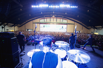 View from stage during Pennywise performance at MUSINK, photo by Scott Uchida