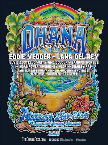 Ohana flyer with music lineup and venue details