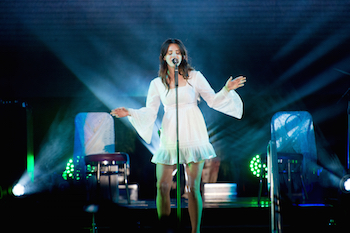 Lana Del Rey performing at Ohana