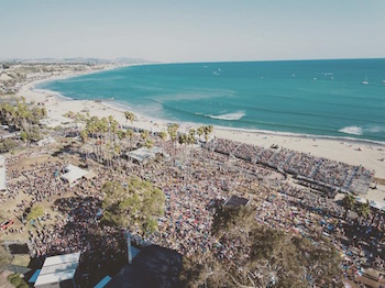 Aerial photo of the festival grounds at Doheny State Beach