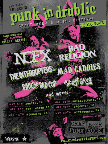 Fat Mike Presents Punk In Drublic Craft Beer & Music Festival flyer with band lineup and spring tour dates