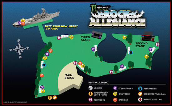 Monster Energy Rock Allegiance festival map