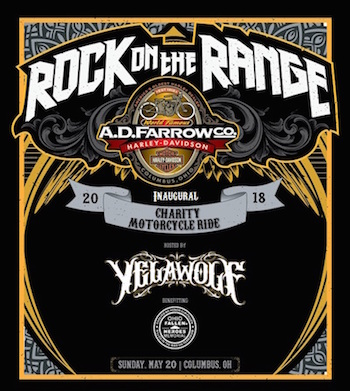 Rock On The Range Charity Motorcycle Ride flyer