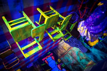 Upside down room at Rob Zombie's Great American Nightmare 2014