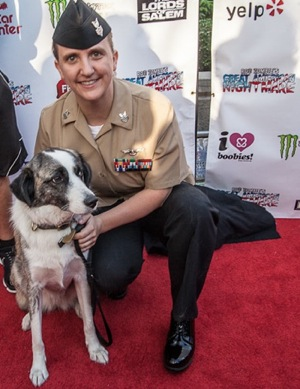 Puppy Rescue Mission on the red carpet at opening night of Rob Zombie's Great American Nightmare