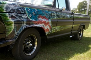 Driver-side view of Rob Zombie's custom 1967 Ford F-100