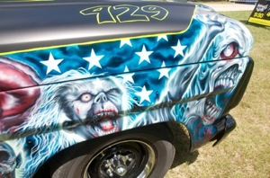 Front passenger-side fender of Rob Zombie's custom 1967 Ford F-100
