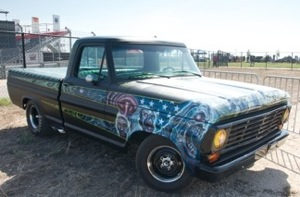 Passenger-side view of Rob Zombie's custom 1967 Ford F-100