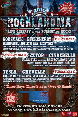 Rocklahoma 2010 flyer