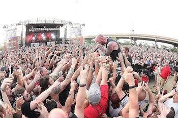 Five Finger Death Punch at Monster Energy's Welcome To Rockville 2014; photo by Harry Reese