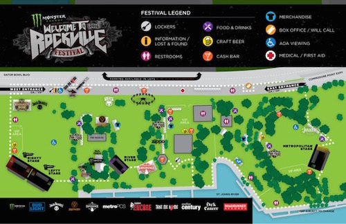 Monster Energy Welcome To Rockville site map