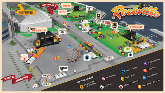 Monster Energy Welcome To Rockville festival map