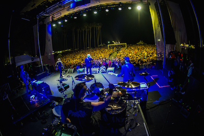 View from the stage as The Offspring perform at Sabroso