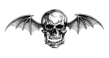 Avenged Sevenfold logo, an illustration of a skull with bat-like wings