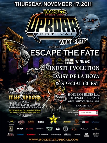 UPROAR wrap party flyer
