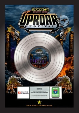 Rockstar Energy Drink UPROAR Festival Commemorative Platinum Record Plaque by Ill Eagle Enterprises
