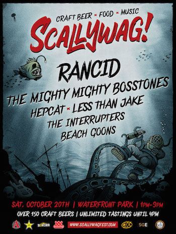 Scallywag! San Diego flyer with band lineup and show details