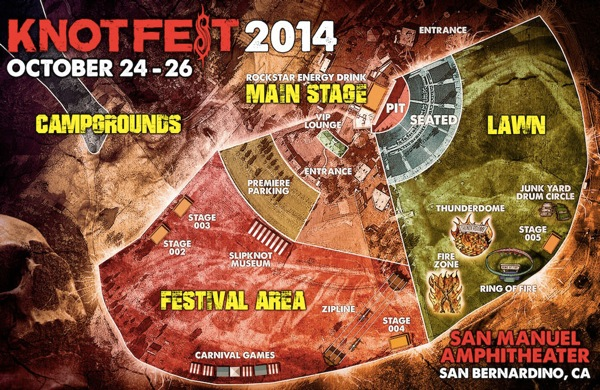 Map of the KNOTFEST festival grounds