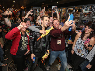 Fans taking selfie with Arejay Hale