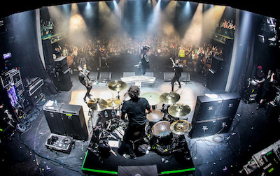 Papa Roach performing on ShipRocked 2017