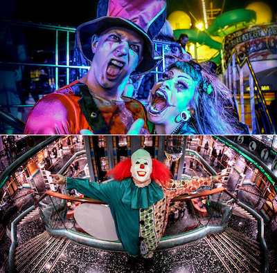 ShipRockers in costume for the ShipRocked 2017 'Circus Shiptacular' theme night