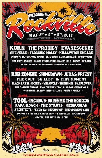welcome to rockville incubus tool rob zombie shinedown korn